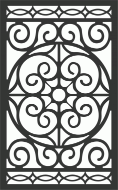 Floral Screen Patterns Design 84 Free DXF File