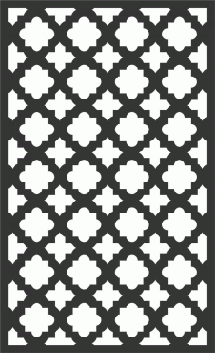Floral Screen Patterns Design 87 Free DXF File