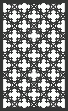 Floral Screen Patterns Design 94 Free DXF File