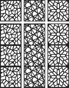 Floral Screen Patterns Design 101 Free DXF File