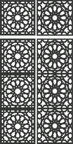 Floral Screen Patterns Design 117 Free DXF File