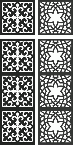 Floral Screen Patterns Design 120 Free DXF File