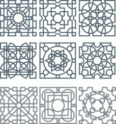 Floral Screen Patterns Design 130 Free DXF File