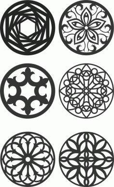 Floral Screen Patterns Design 139 Free DXF File