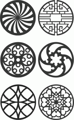 Floral Screen Patterns Design 141 Free DXF File