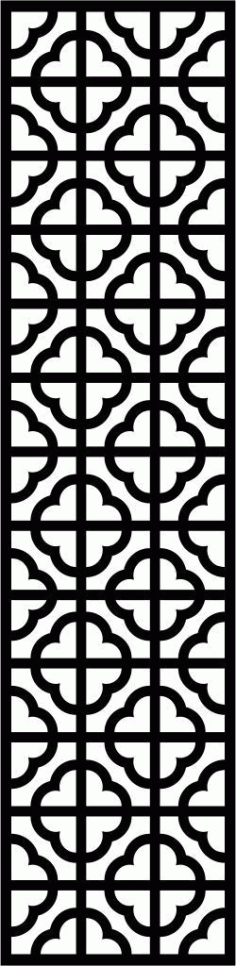 Floral Screen Patterns Design 154 Free DXF File