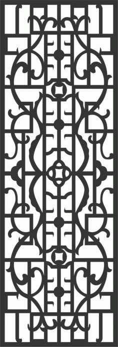 Screen Panel Patterns Seamless 20 Free DXF File