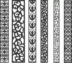 Screen Panel Patterns Seamless 38 Free DXF File