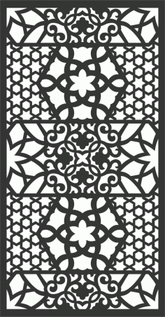Screen Panel Patterns Seamless 56 Free DXF File