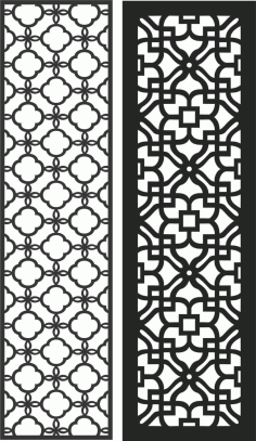 Screen Panel Patterns Seamless 79 Free DXF File