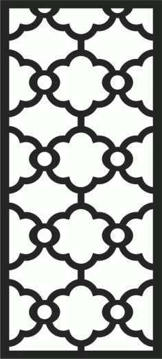 Screen Panel Patterns Seamless 81 Free DXF File