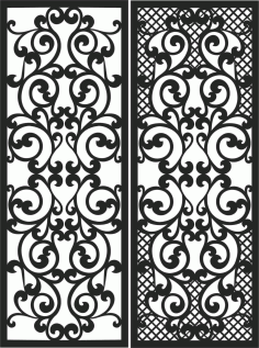 Screen Panel Patterns Seamless 85 Free DXF File