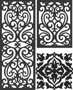 Screen Panel Patterns Seamless 86 Free DXF File
