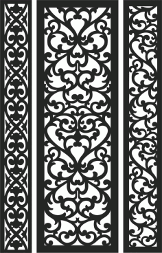 Screen Panel Patterns Seamless 91 Free DXF File