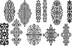 Screen Panel Patterns Seamless 96 Free DXF File