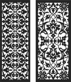 Screen Panel Patterns Seamless 99 Free DXF File