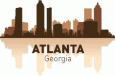 Atlanta Skyline Free CDR Vectors Art
