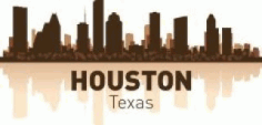 Houston Skyline Free CDR Vectors Art