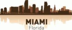 Miami Skyline Free CDR Vectors Art