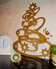 Laser Cut Christmas Tree Decorations Wooden Free CDR Vectors Art