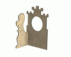 Laser Cut Photo Frame With Dragon Free CDR Vectors Art