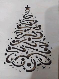 Laser Cut Christmas Tree Pattern Free CDR Vectors Art