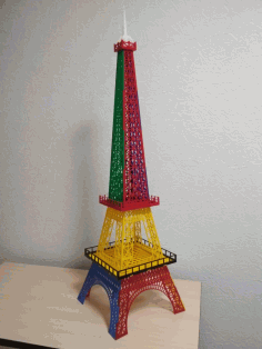 Eiffel Tower Acrylic Decoration 3mm Laser Cut Template Free CDR Vectors Art