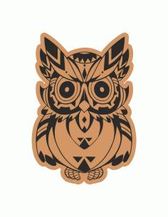 Cute Owl Laser Cut Engraving Template Free CDR Vectors Art