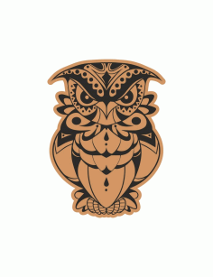 Decorative Angry Bird Owl Laser Cut Engraving Template Free CDR Vectors Art