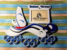 Aser Cut Surfing Medal Hanger Display Rack Free CDR Vectors Art