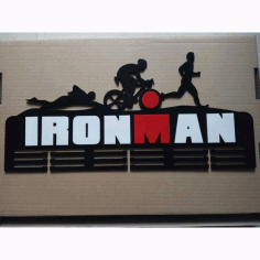 Laser Cut Ironman Medal Hanger Free CDR Vectors Art