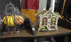 Laser Cut Wooden Tea House Tea Bags Holder Free CDR Vectors Art