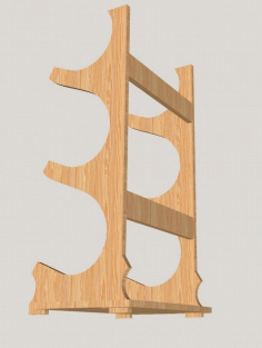 Wooden Wine Stand Wine Bottle Holder Wine Rack Free CDR Vectors Art