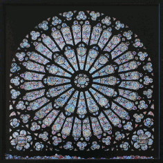 Laser Cut Cathedral Window Notre Dame Rose Window Free DXF File