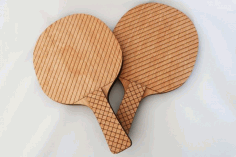 Ping Pong Paddle Laser Cut Template Free DXF File