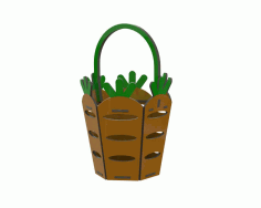 Carrot Easter Basket Laser Cutting Template Free CDR Vectors Art