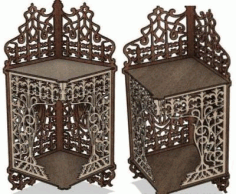 Laser Cut Carved Shelf 6mm Free CDR Vectors Art
