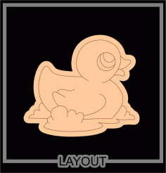 Laser Cut Engraved Duck Free CDR Vectors Art
