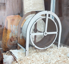 Laser Cut Hamster Wheel Free CDR Vectors Art