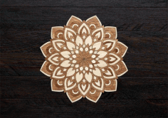 Laser Cut Layered Mandala Free CDR Vectors Art