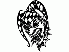 Laughter Clown Free DXF File