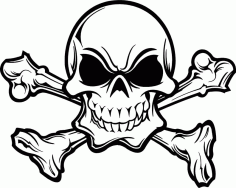 Skull Warning Sign Free DXF File