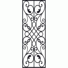 Laser Cut Victorian Iron Pattern Free DXF File
