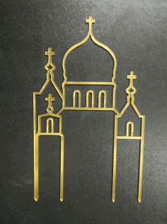 Laser Cut Christian Wedding Acrylic Cake Topper Free CDR Vectors Art