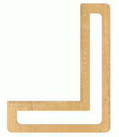 Laser Cut Try Square Ruler With Engraving Free CDR Vectors Art
