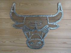 Laser Cut Bull Wall Art Free CDR Vectors Art