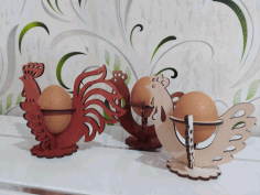 Laser Cut Decorative Easter Egg Holder Free CDR Vectors Art