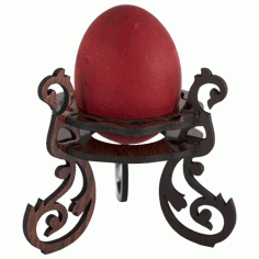 Laser Cut Wooden Decorative Easter Egg Stand Free CDR Vectors Art