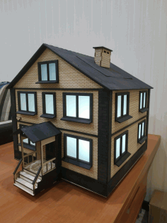 Wooden House Model Laser Cut Free CDR Vectors Art