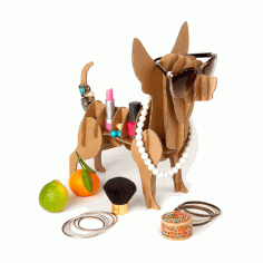 Laser Cut Dog Jewelry Holder Dresser Top Jewelry Organizer Free CDR Vectors Art
